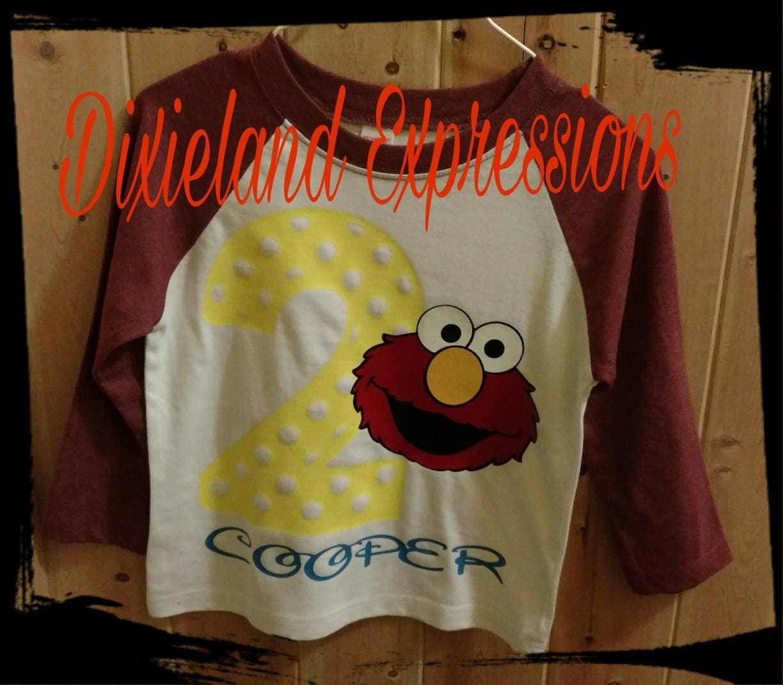 Elmo First Birthday Shirt Baseball Tee Party 2nd Kids 1st Shirts Sesame Street