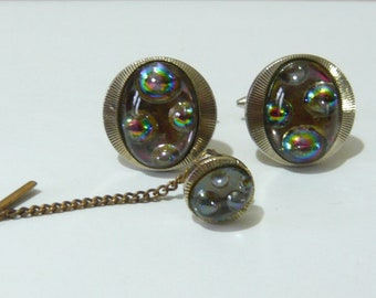 1960's Cufflink and Tie Pin Set - Stratton in style