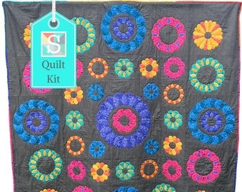 Curve Motion Medallion BOM Quilt - Sign Up - Block-Of-The-Month Quilt, English Paper-Piecing, EPP, Handsewn Quilt