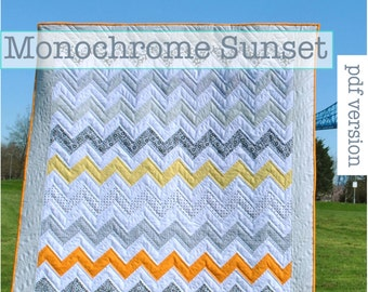 sunset quilt pattern  etsy