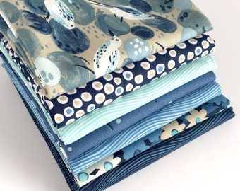 Sandpipers Fat Quarter Bundle - 7pc - from Michael Miller - Quilting Fabrics