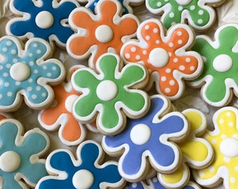 Large Flower Cookies - 1 Dozen