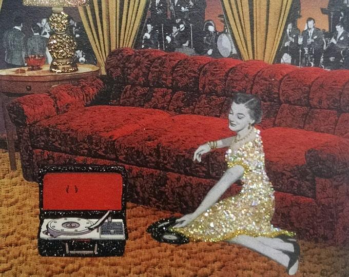 Big Band Music Card-Swing Music,Vinyl, Record, Record Player, 50's, Music, Vintage, Glenn Miller