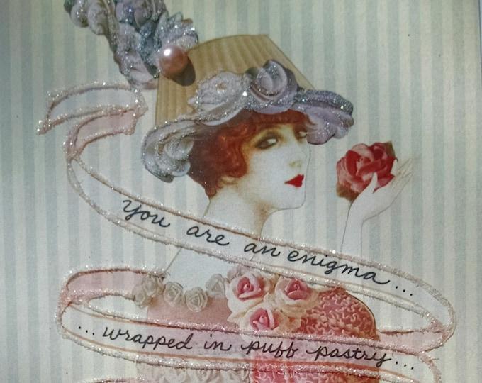 Fancy Cake Card, Card for Baker,Sweetheart Card