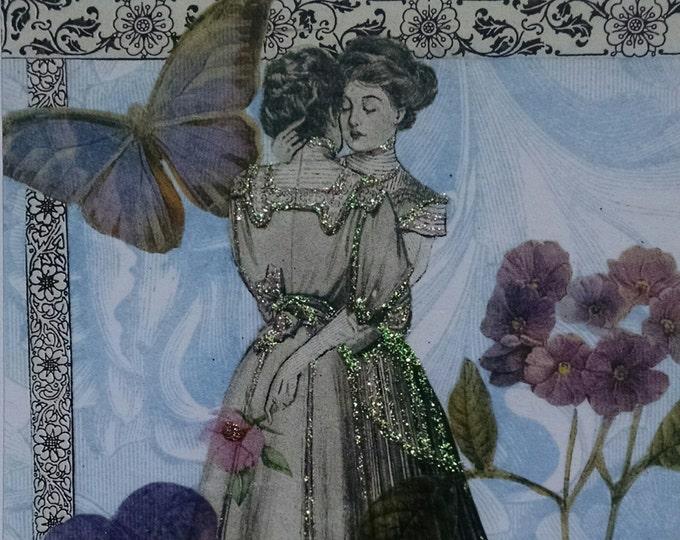 Victorian Ladies Wedding Card - Lover, Birthday,  Lavender, LGBT, Engagement, Anniversary