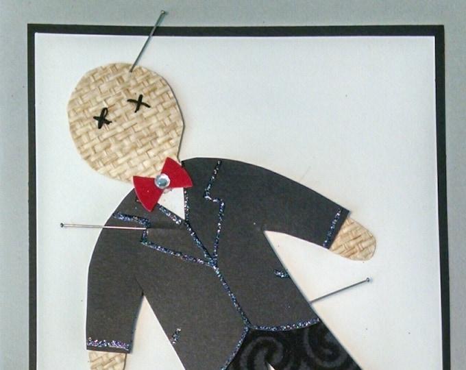 Voodoo Doll Kit Valentine Card-Valentine,Voodoo,Doll,Antivalentine, Embellished,Voo Doo, Boy,Anti Valentine,Valentines,Voo Doo Doll,
