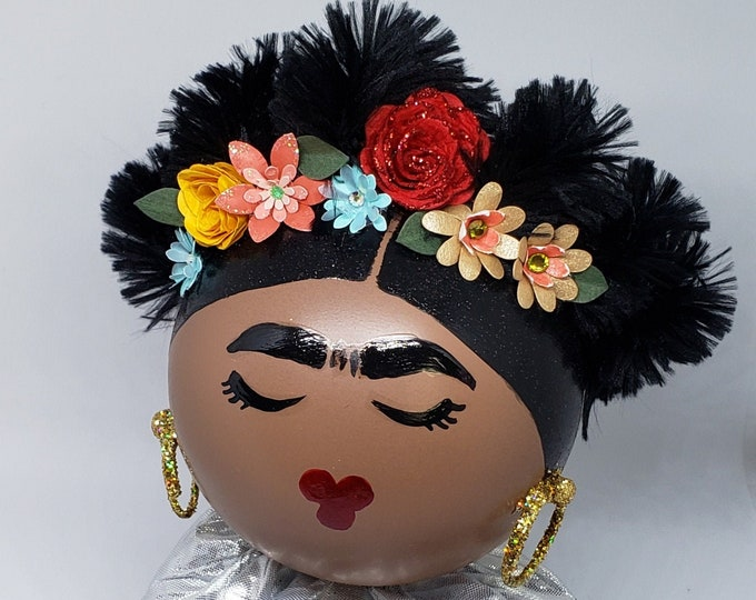 Large Handmade Frida Kahlo Christmas Ornament,Frida Christmas