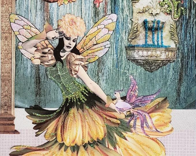 Tatiana Fairy Card, Bling Fairy Card, Handmade Fairy Card, Card for framing