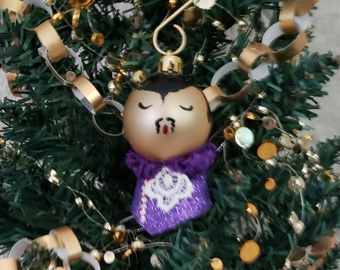 Handmade Prince Purple Rain Christmas Ornament