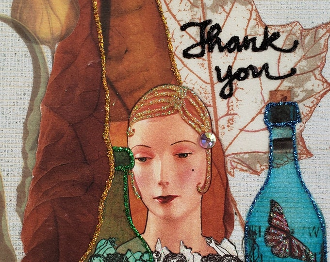 Elegant Thank You Card, Blank Thank You, Appreciation Card