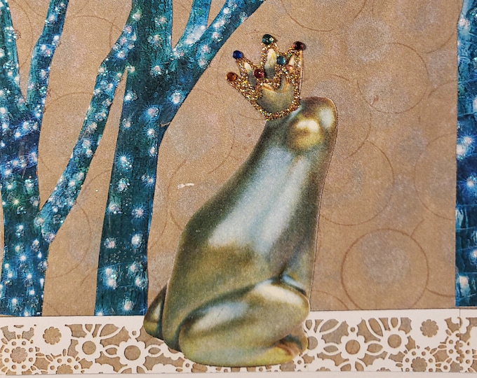 Frog Prince Card, Fairy Tale Card,Prince Charming Card