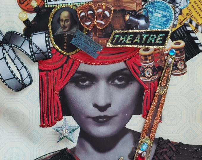 Drama Queen Greeting Card-Theater,Pola Negri,Film,Red Velvet,Stage,Screen,Actor,Shakespeare,Movie Star,Acting,Drama,Star,