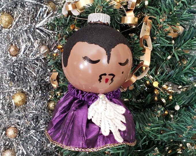 Large Prince Purple Rain Christmas Ornament, handmade ornament