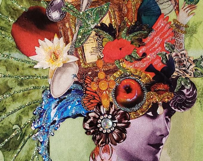 Vintage Beauty Blank Card,Imagine,Milliner,hat,chapeau,Birthday Card,Extravagant card,creative card,card for artist,creative mind card