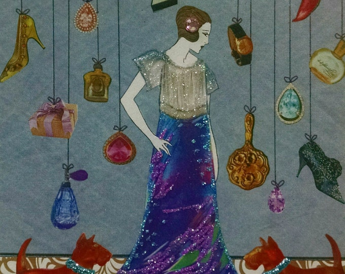 Stylist Fashionista Beautician Card- Perfume, Shoes, Jewelry, Fashion, Makeup, Scotties, Glamour,