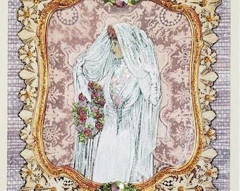 Victorian Wedding Blank Bridal Victorian Bride Card