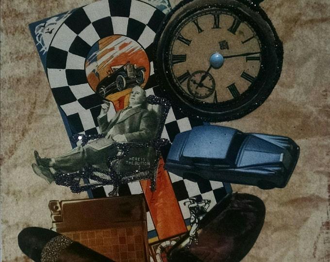 Car Card-  Car, Cars, Racing, Hot Rod, Vintage, Cigar, Easy Chair, race car