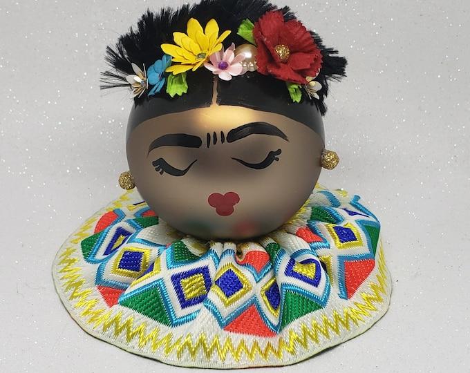 Handmade Frida Kahlo Christmas Ornament,Frida Christmas,Frida Kahlo.