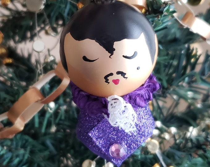 Little Prince Purple Christmas Small Ornament- Purple,Prince,Purple Rain, Music, Musician