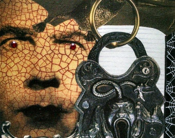 Vampire Card-Dracula, Bela Lugosi, Gothic, Goth, Bat, Ghost, Lock, Vintage, Vampires, Blank Inside, EMO, Steampunk