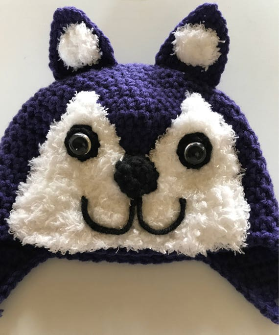 University of Washington Huskies earflap hat UW Husky Hat  fbe734707