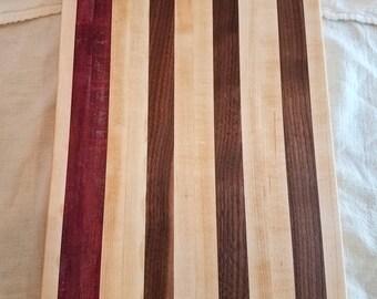 Purple Heart Maple and Walnut Cutting Board