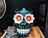 Hand-painted Mexican skull, Calaveras, Dia de Los Muertos, Mexico