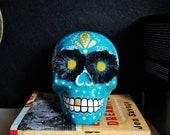 Hand painted Mexican skull, Calaveras, Dia de Los Muertos