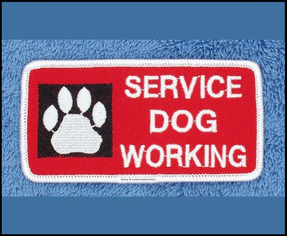 Service Dog Working Do Not Touch Patch 3.5 Assistance Medical Disable DannyLuAnn