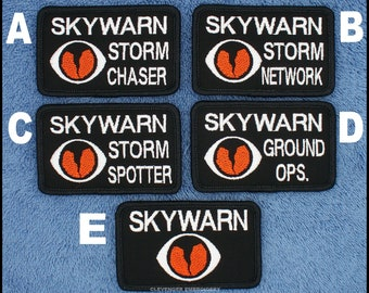 Skywarn Amateur Radio Patch Size: 2x3.25 inch for Operator Style Hats  Danny & LuAnns Embroidery
