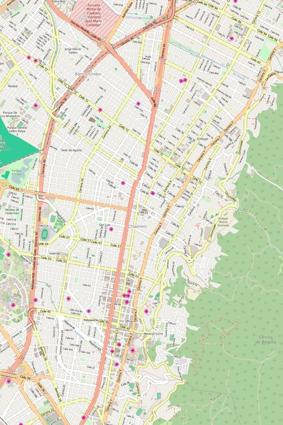 Editable City Map of Bogota on sao paulo brazil map, caracas map, havana map, lima on map, san pedro sula map, boston map, mexico city map, dhaka map, buenos aires map, colombia map, cartagena map, quito map, chicago map, bratislava map, paramaribo map, leticia map, santiago map, asuncion map, rio de janeiro map, brasillia map,