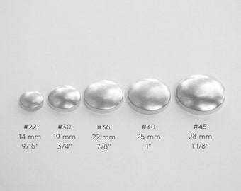 50 Metal Self Cover Buttons 22 30 36 40 45 Bulk 2 Parts Etsy