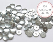 100 Metal buttons to cover with fabric 2 parts 22 30 36 40 45 14-19-22-25-28 mm Self-cover Tufting Sewing Upholstery Jewelry making