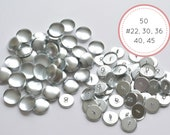 50 Metal Self cover buttons 22 30 36 40 45 Bulk 2 parts eye-back button covered fabric buttons Tufting Sewing Upholstery Jewelry making
