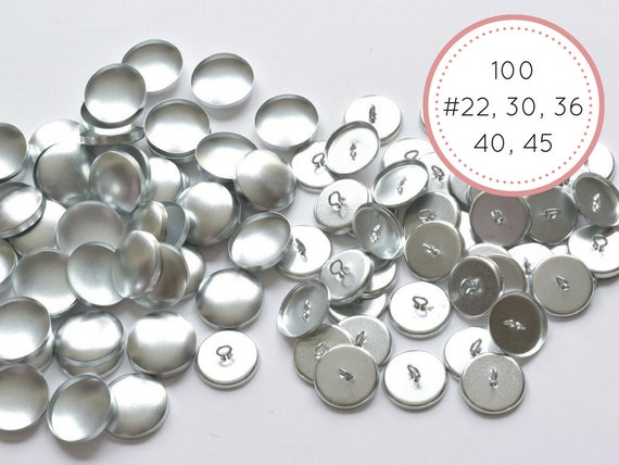 50 Self Cover Buttons 19mm  DIY win tool set FLATBACK Cabochons Free Tool