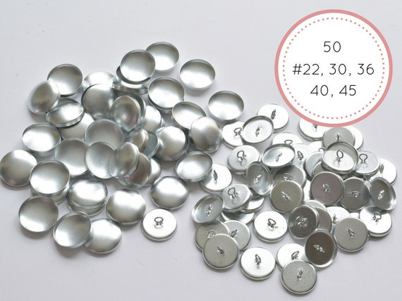 SIZE 36 QTY 50 7//8\ Cover Buttons - WIRE BACKS