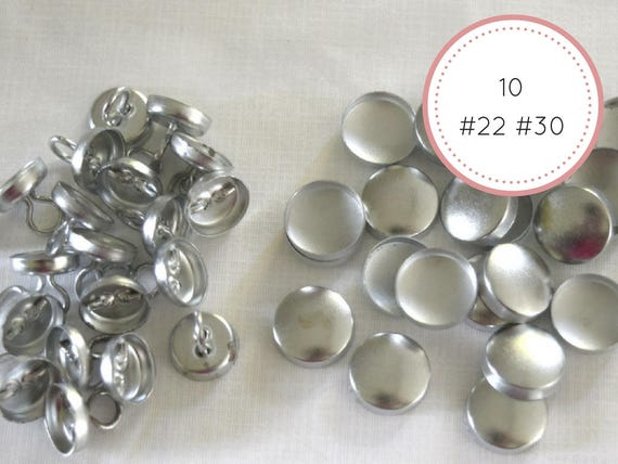 10 Self Cover Buttons 22 30 Diameter 9 16 3 4 Etsy