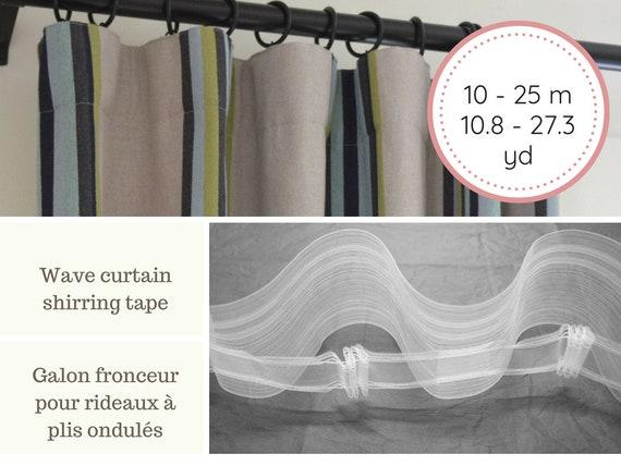"1/"" Transparent Pleating Shirring Tape Mini-Pleat Curtain Shade Tape"