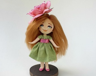 Paper Clay Rose Doll