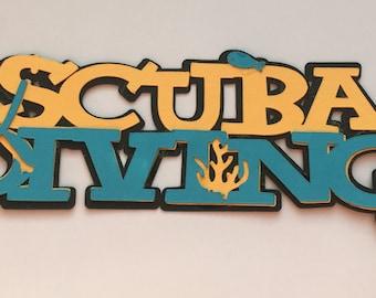 Scuba Diving Die Cut
