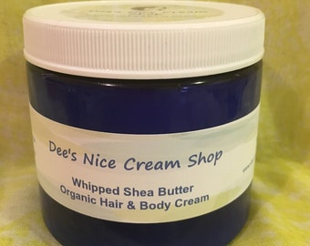 Unscented - Whipped Shea Butter: Organic Hair & Body Cream