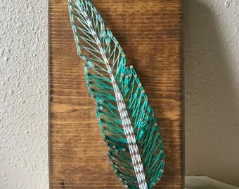 Feather String Art, Boho String Art