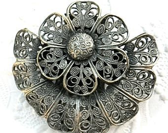 Vintage Filigree Dress Clip Vintage Pins Victorian Brooch Accessories VA-231