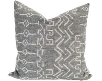 Gray Pillow Cover Textured Pillow Throw