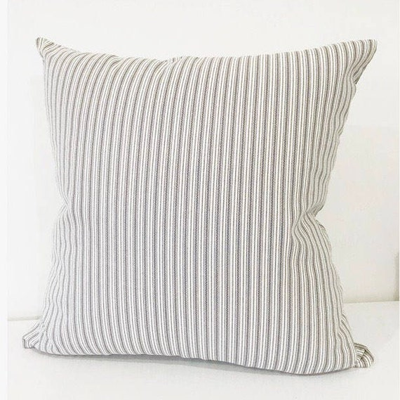 f5eb108a2dbc Ticking Stripe Pillow Cover Classic Ticking Pillow Cover | Etsy