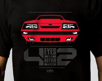 0b9f586c Four Eyes Mustang T-shirt - Unisex Men's/Women's T-shirt