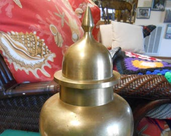 Large Brass GINGER JAR
