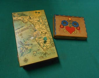 TWO Wood Boxes