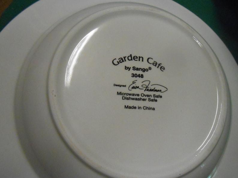 8 Soup Bowls GARDEN CAFE par Sango
