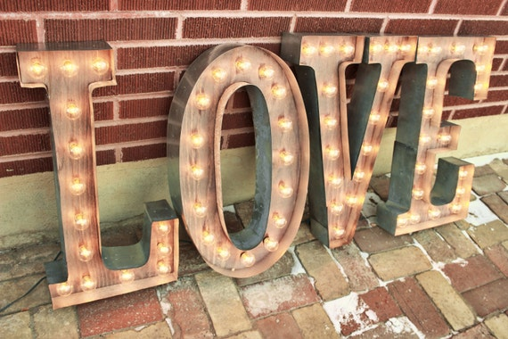 24 36 Or 48 Love Letters Marquee Signs Etsy